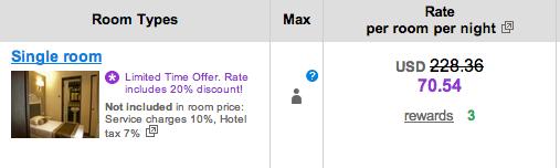 Singapore hotel room