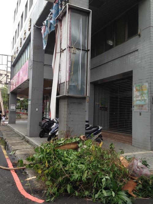 Taiwan typhoon Soulik damage