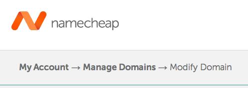 Namecheap Modify Domain