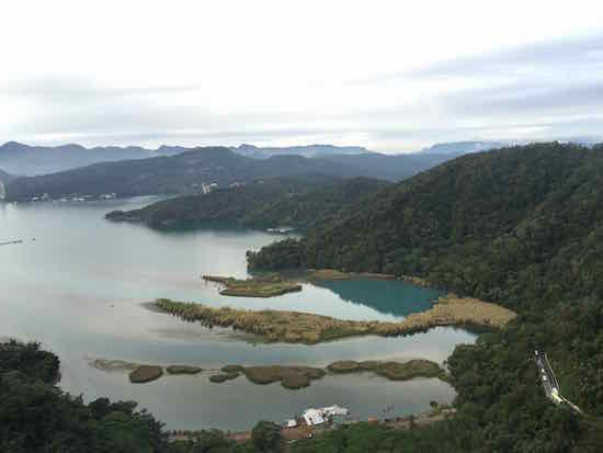 Sun Moon Lake from Above