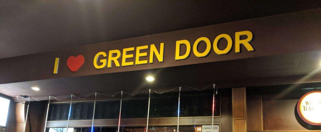 i love the Green Door