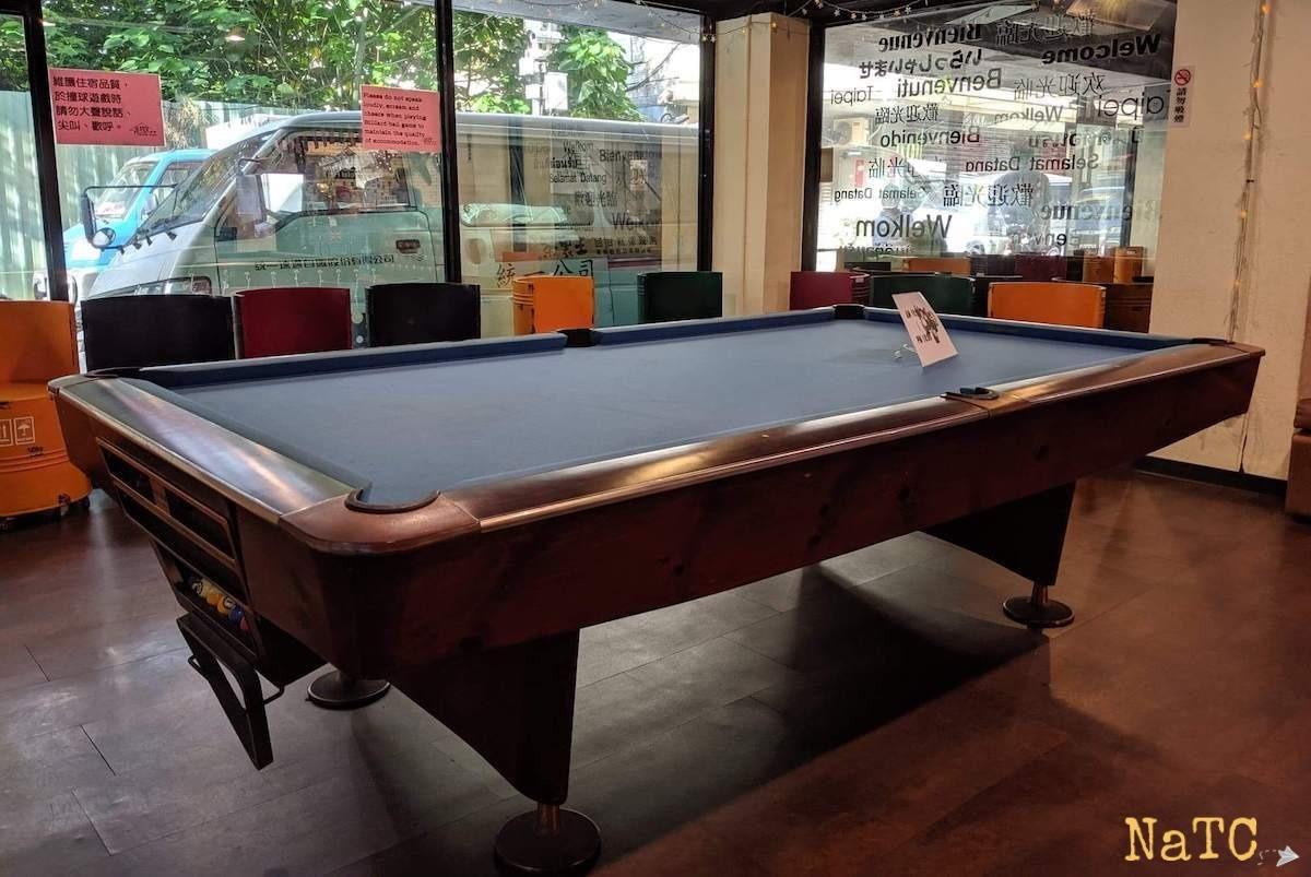 hostel pool table