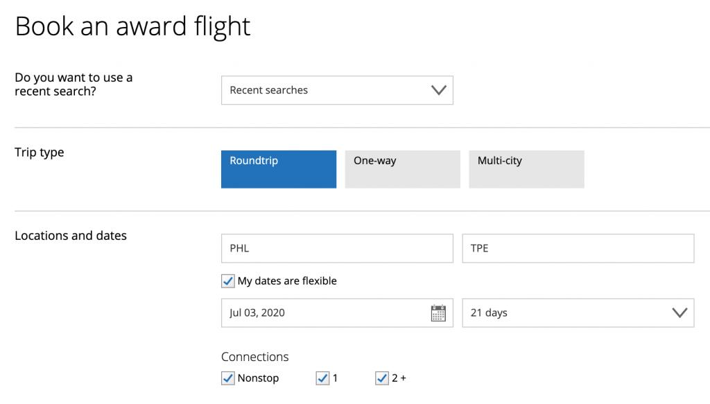 mileageplus flight search