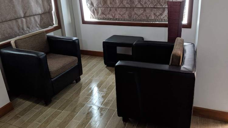table and chairs at the Point Boutique in Phnom Penh